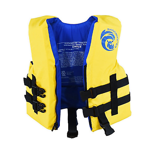Child Life Vest for Watersports (Yellow) - USCG Approved Type III