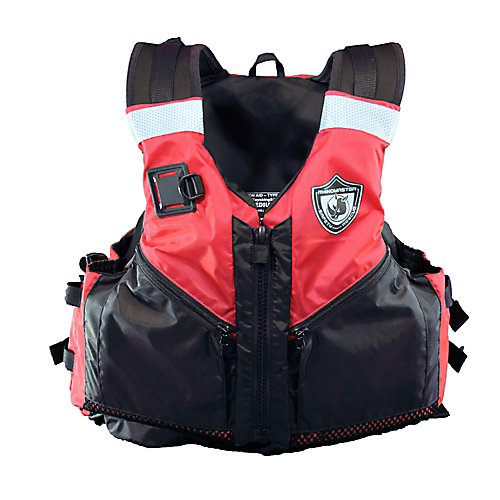 Adult Life Vest for Watersports (Red) - USCG Approved Type III