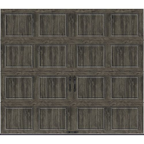 Collection Gallery 8 pi x 7 pi Porte de garage Valeur «R» 6.5 isolée Solide Ultra-Grain gris ardoise
