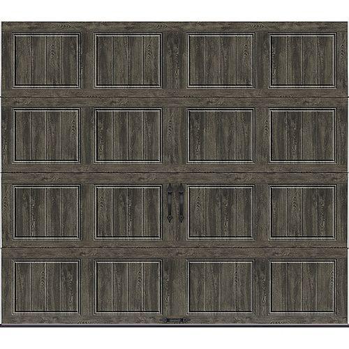 Clopay Collection Gallery 8 pi x 7 pi Porte de garage Valeur «R» 18.4 isolant Intellicore Solide Ultra-Grain gris ardoise