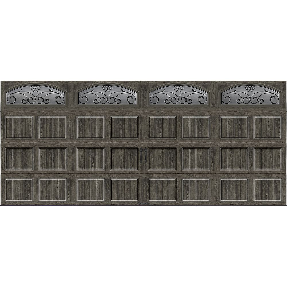 Clopay Gallery Collection 16 ft.x7 ft. 6.5 R-Value Insulated Slate Garage Door with Windows