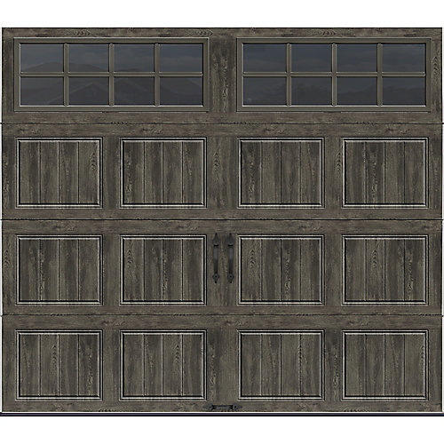 Gallery Collection 8 ft.x7 ft. 6.5 R-Value Insulated Slate Garage Door with SQ24 Window