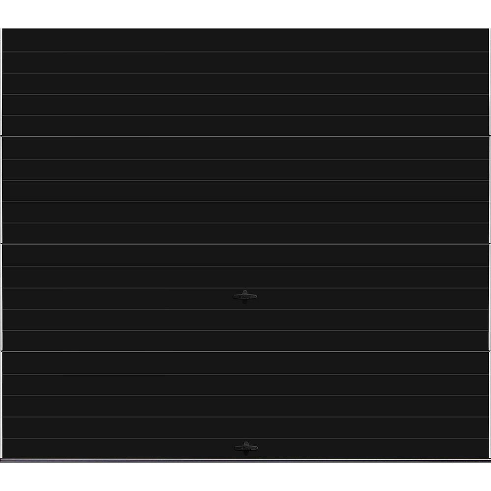 Clopay Collection Griffontown 8 pi x 7 pi Porte de garage Valeur «R» 18.4 isolée Intellicore Solide Noire
