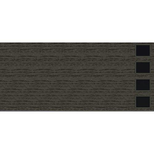 Clopay Collection Griffontown 16 pi x 7 pi Porte de garage Valeur «R» 18.4 isolée Solide gris ardoise avec fenêtres Contemporain