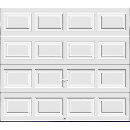 Classic Collection 8 ft. x 7 ft. 6.5 R-Value Insulated Solid White Garage Door