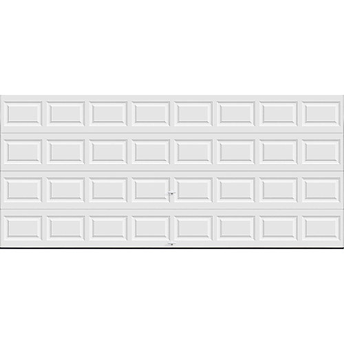 Classic Collection 16 ft. x 7 ft. 6.5 R-Value Insulated Solid White Garage Door