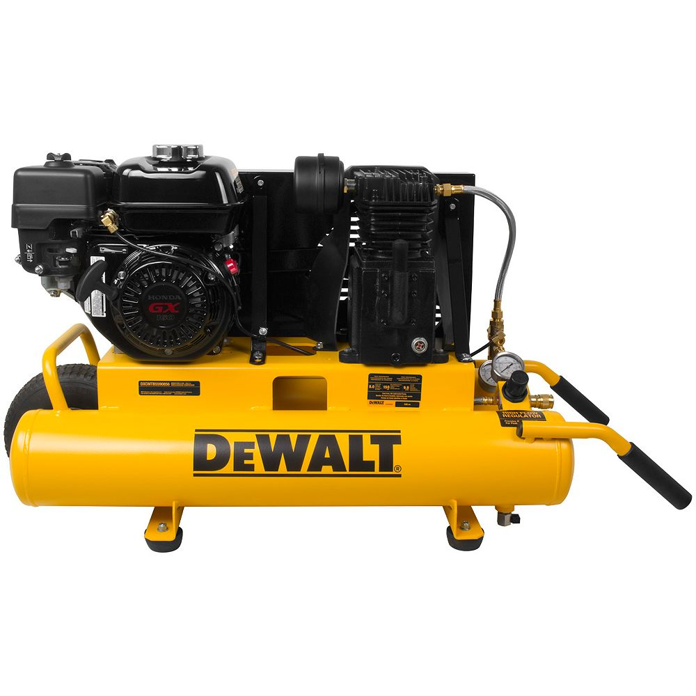 DEWALT 8 Gal. 150 PSI 5.5 HP Belt Drive Gas-Powered Wheelbarrow Air Compressor