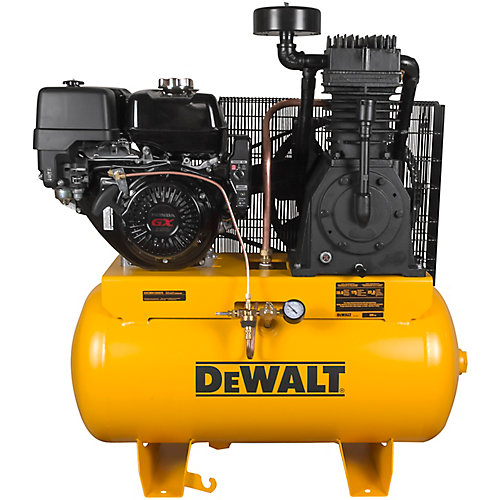 30 Gal. 2-Stage Portable Gas-Powered Truck Mount Air Compressor