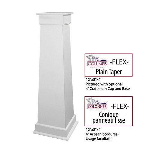 """Colonne - PVC, conique FLEX, panneau lisse, 12""""-8"""" @ 4'"""