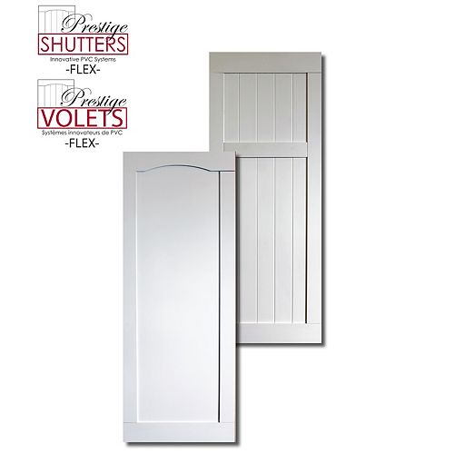 16 inch x 48 inch Reversable Shutter (V Groove/Recessed)(Pair)