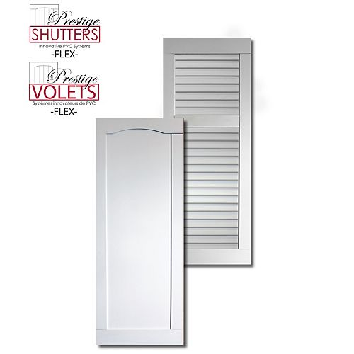 16 inch x 48 inch Reversable Shutter (Closed Louvre/Recessed)(Pair)