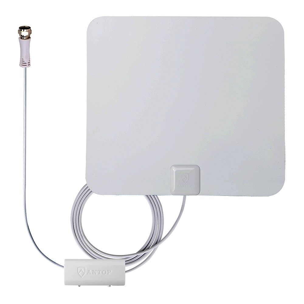 ANTOP Paper Thin Smartpass Amplified Indoor HDTV Antenna-50 Mile