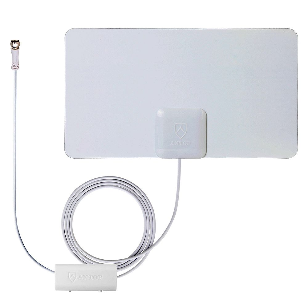 ANTOP Paper Thin Smartpass Amplified Indoor HDTV Antenna - 45 Mile