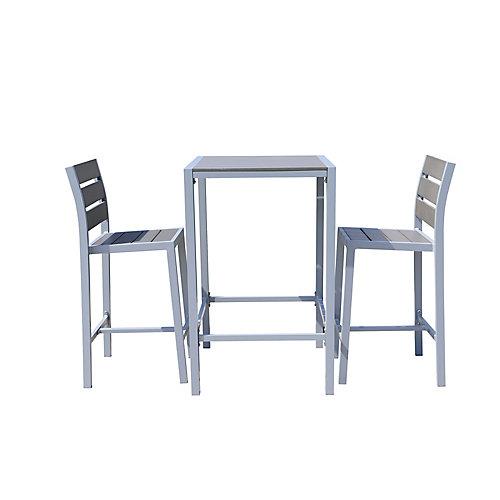Vittore Bar Height 2-Seat Polywood Patio Dining Set