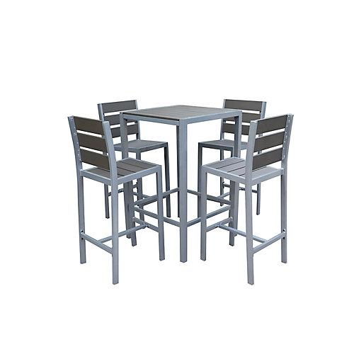 Vittore Bar Height 4-Seat Polywood Patio Dining Set