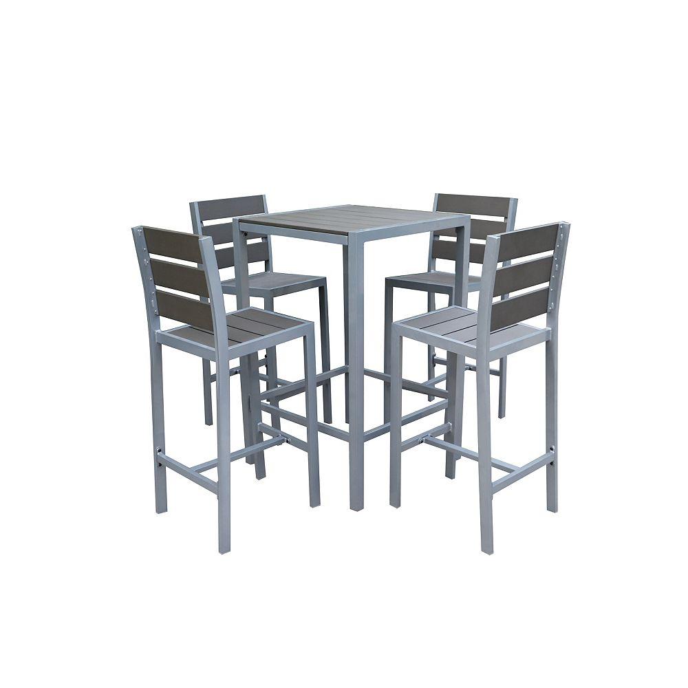 Velago Vittore Bar Height 4-Seat Polywood Patio Dining Set