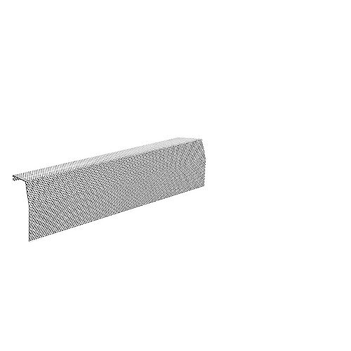 Baseboarders Premium Series 2 ft. Galvanized Steel Easy Slip-On Baseboard Heater Cover in White
