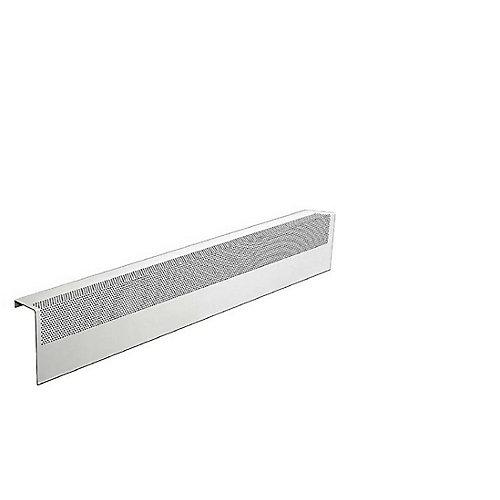 Basic Series 3 ft. Galvanized Steel Easy Slip-On Baseboard Heater Cover in White