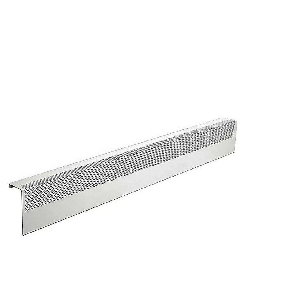 Baseboarders Basic Series 4 ft. Galvanized Steel Easy Slip-On Baseboard Heater Cover in White