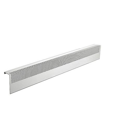 Baseboarders Basic Series 4 ft. Galvanized Steel Easy Slip-On Baseboard Heater Cover in White
