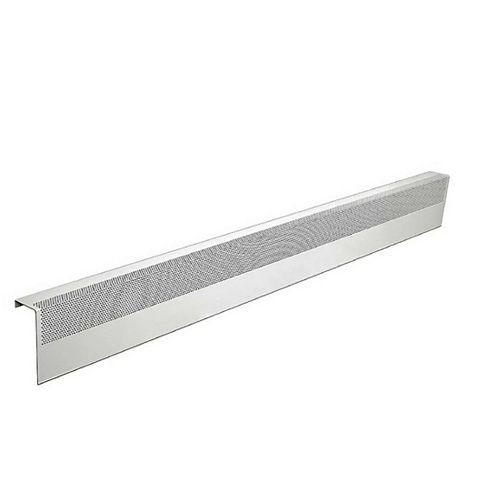 Basic Series 5 ft. Galvanized Steel Easy Slip-On Baseboard Heater Cover in White
