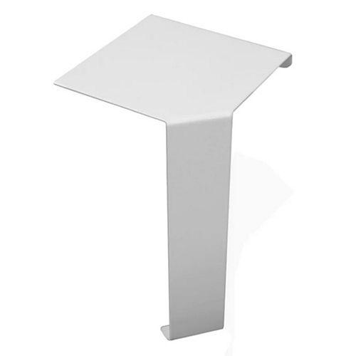 Baseboarders Basic Series Steel Easy Slip-On Baseboard Heater Cover Inside 90-Degree Corner in White