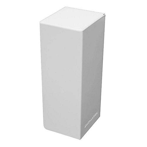 Capuchon d'extrémité Droite de la Série Basic en Blanc