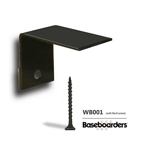 Premium and Basic Series Galvanized Steel Easy Slip-On Baseboard Heater Cover Alternative Wall Bracket Mounting