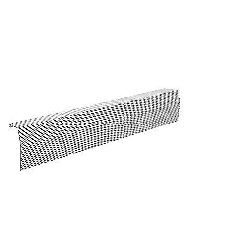 Premium Series 4 ft. Galvanized Steel Easy Slip-On Baseboard Heater Cover in White