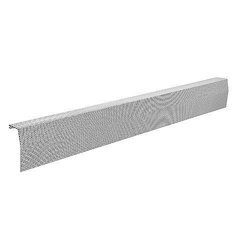 Premium Series 6 ft. Galvanized Steel Easy Slip-On Baseboard Heater Cover in White