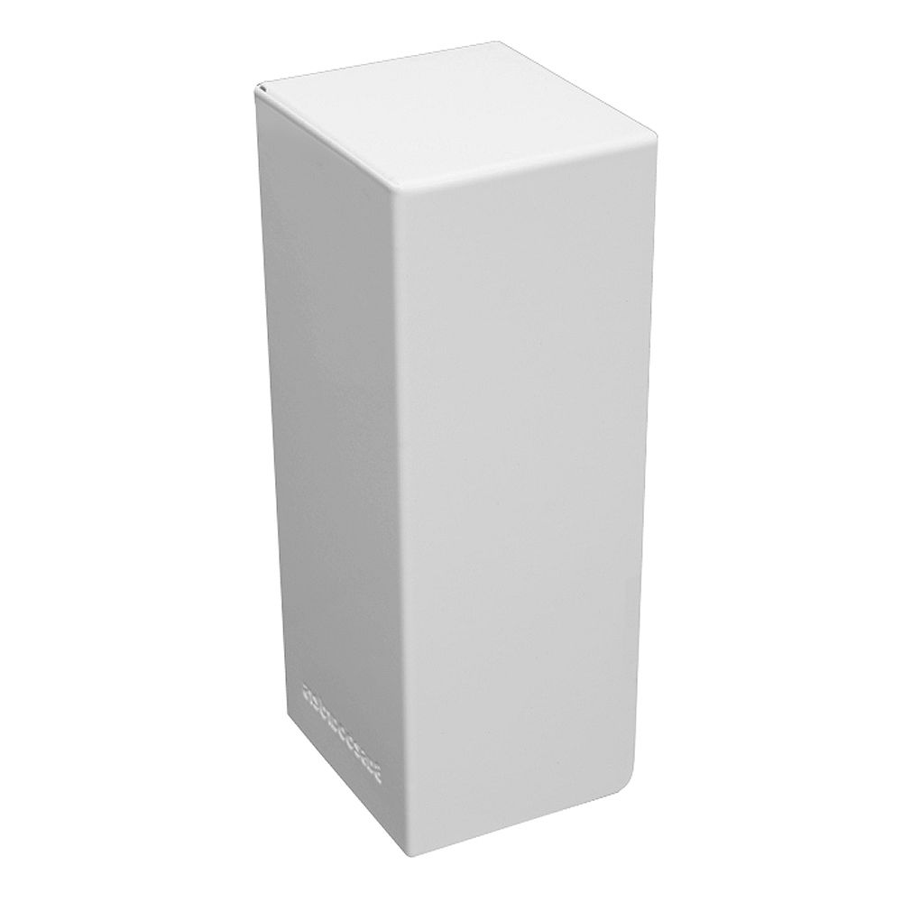 Baseboarders Basic Series Steel Easy Slip-On Baseboard Heater Cover Left Side End Cap in White