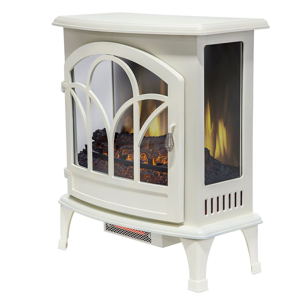 Muskoka 25 inch Curved Front Panoramic Stove Glass Front - White
