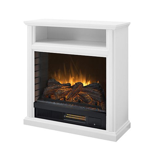 Parkdale 30-inch Mobile Infrared Electric Fireplace in White