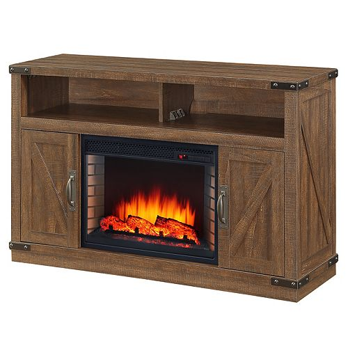 48 inch Aberfoyle Media Electric Fireplace - Rustic Brown