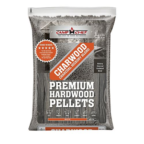 Camp Chef Charwood Charcoal Hickory Blend Pellets (20 lbs.)
