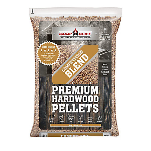 3 Bags of Competition Blend Premium Hardwood Pellets (20 lbs./each bag)