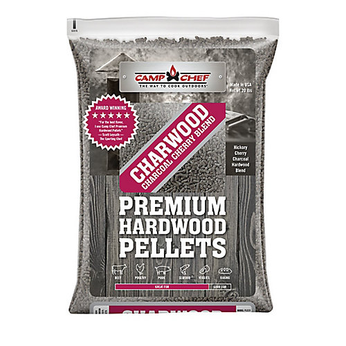 3 Bags of Charwood Charcoal Cherry Blend Pellets (20 lbs./each bag)