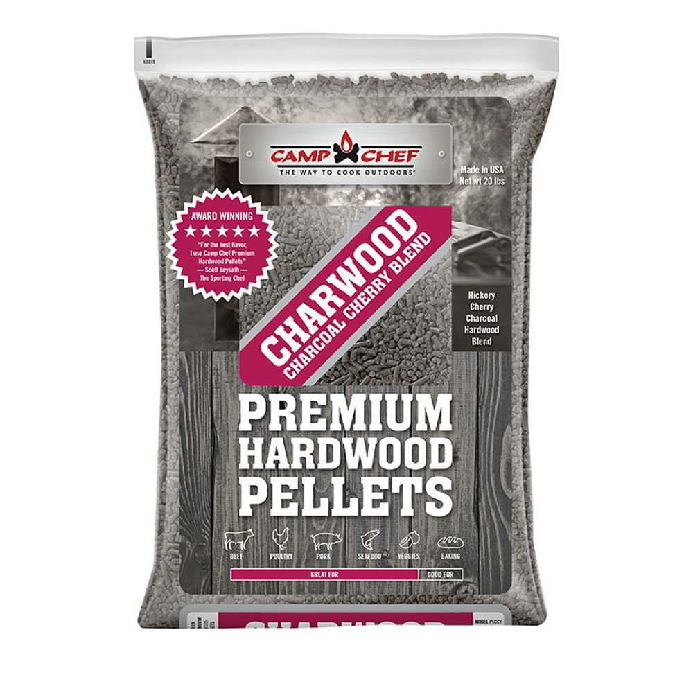 Camp Chef 20 lb Charwood Charcoal Cherry Blend Pellets (3-Pack)