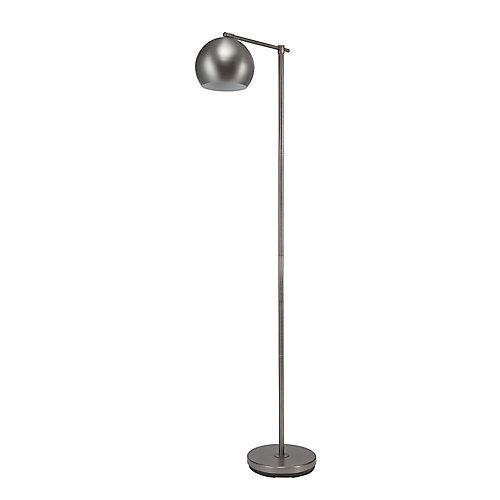 Lampe sur pied de collection Molly de 60 po en acier noirci, interrupteur à bascule marche/arrêt