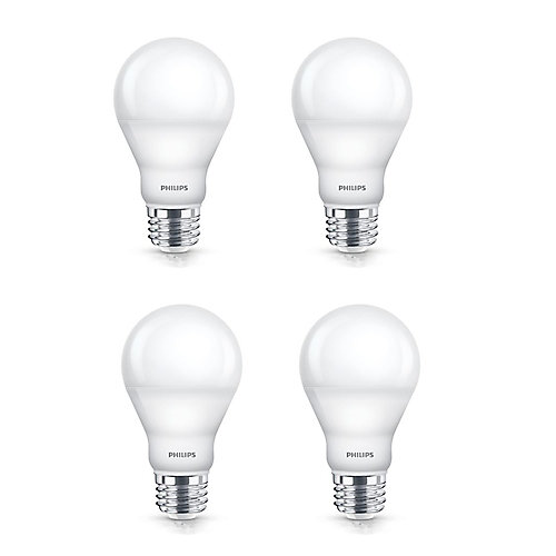 60W A19 Soft White Dimmable LED Light Bulb (4-Pack)