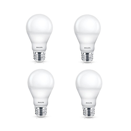60W A19 Dimmable Daylight LED Light Bulb (4-Pack)