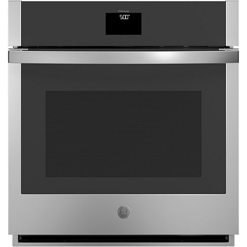 27-inch Smart Single Electric Wall Oven with Convection Self-Cleaning in Stainless Steel