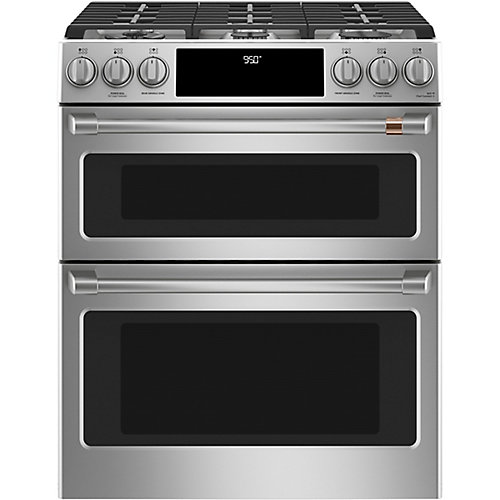 30-inch Slide-In Dual-Fuel Double Oven with Convection Range in Stainless Steel
