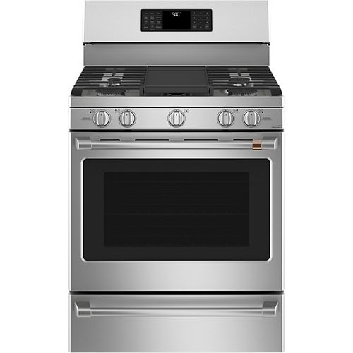Café 30-inch Free-Standing Gas Range with Convection Oven in Stainless Steel