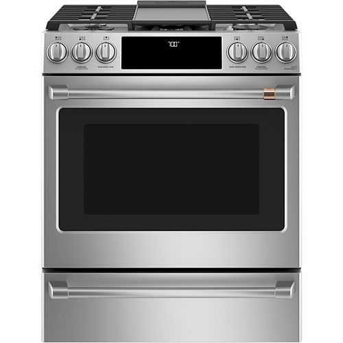 30-inch Slide-In Gas Range with Convection Oven in Stainless Steel