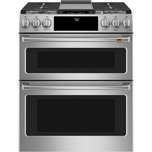 30-inch Slide-In Gas Double Oven with Convection Range in Stainless Steel