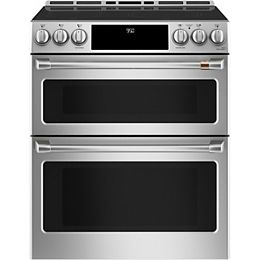 30-inch Slide-In Induction and Convection Double Oven Range in Stainless Steel