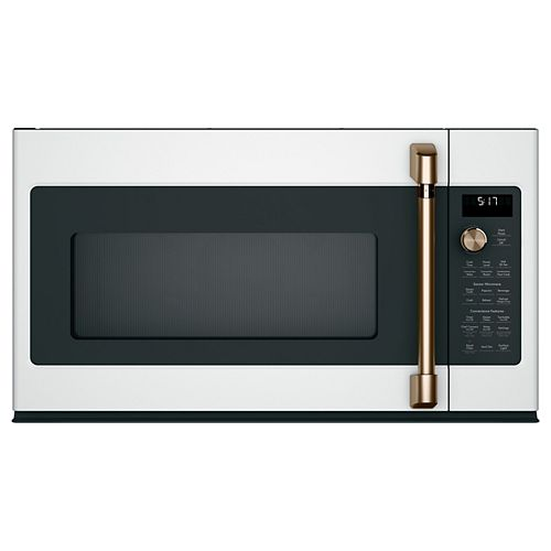 1.7 cu. ft. Over the Range Convection Microwave with Sensor Cooking in Matte White