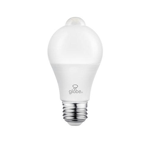 40W Equivalent Warm White (3000K) A19 Motion Sensor Non-Dimmable LED Light Bulb