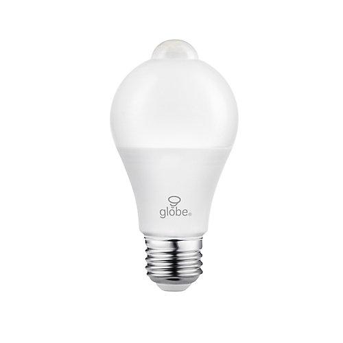 60W Equivalent Warm White (3000K) A19 Motion Sensor Non-Dimmable LED Light Bulb